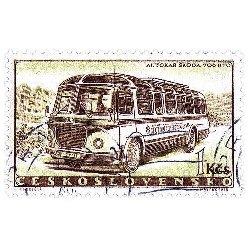 Tričko s retro motivem - známka autobus RTO