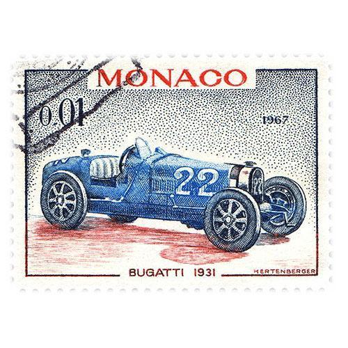 Tričko s retro motivem - T19 - známka Monako