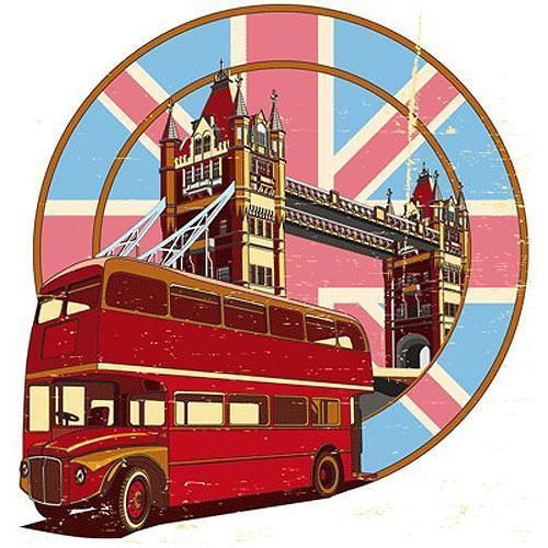 Tričko s retro motivem - T36 - autobus double decker