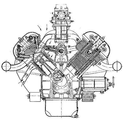 Tričko s retro motivem - T65 - motor