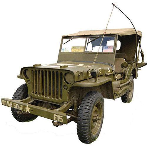 Tričko s retro motivem - T79 - Jeep Willys