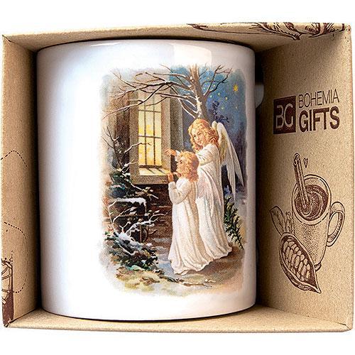 Keramický hrnek s potiskem - andělé