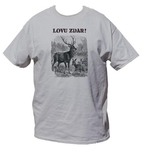 Tričko pro myslivce - jelen - perokresba