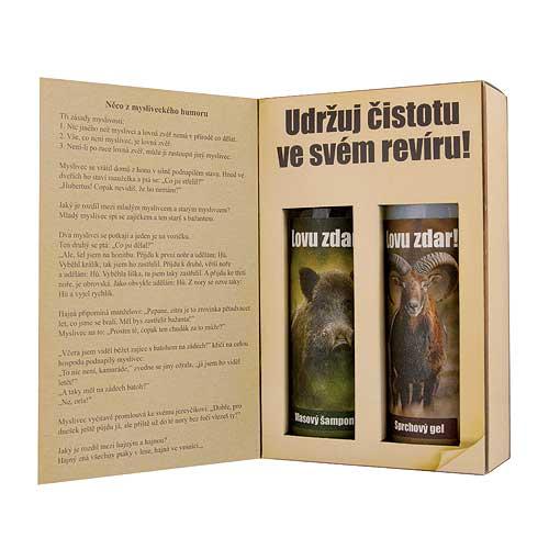 Dárkové balení kosmetiky pro muže - kniha pro myslivce