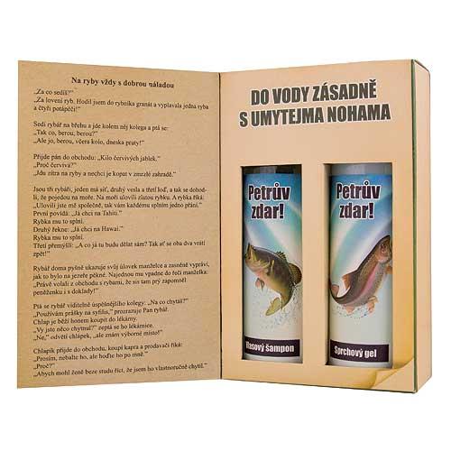 Dárkové balení kosmetiky pro muže - kniha pro rybáře