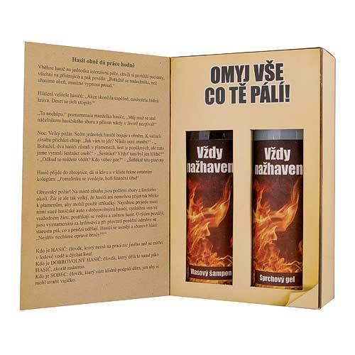 Dárkové balení kosmetiky pro muže - kniha pro hasiče