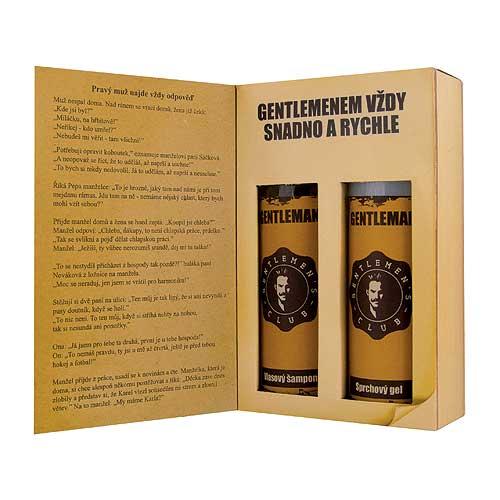 Dárkové balení kosmetiky pro muže - kniha pro gentlemany