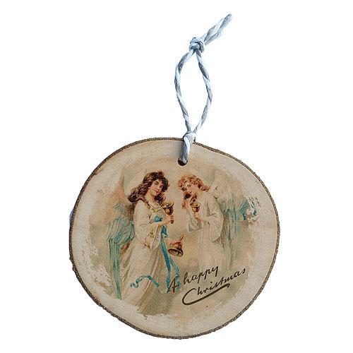 Ručně vyráběná vánoční ozdoba - andělé se zvonky