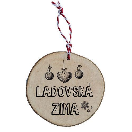 Dřevěná vánoční ozdoba - Ladovská zima