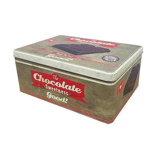 Dárkový koš - plechový - chocolate