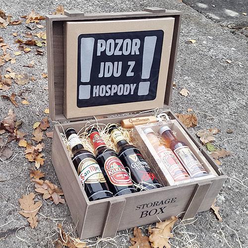 Pivní dárkový koš pro muže