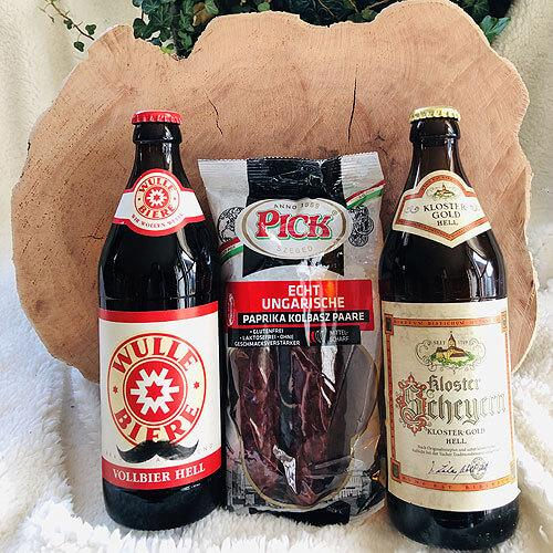 Gurmánský set - pivo, čabajka a kuchyňské prkénko