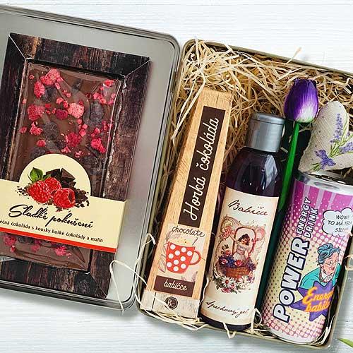Dárkový plechový box pro babičku - milované babičce
