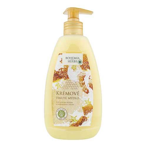 Krémové tekuté mýdlo 500 ml - mléko a med