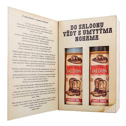 Kosmetický balíček pro muže - Western saloon
