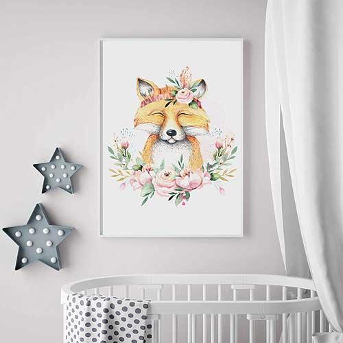 Plakát pro děti A4 - liška