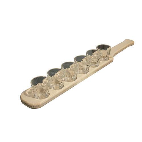 Dřevěný držák na skleničky