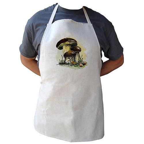 Kuchyňská zástěra pro houbaře