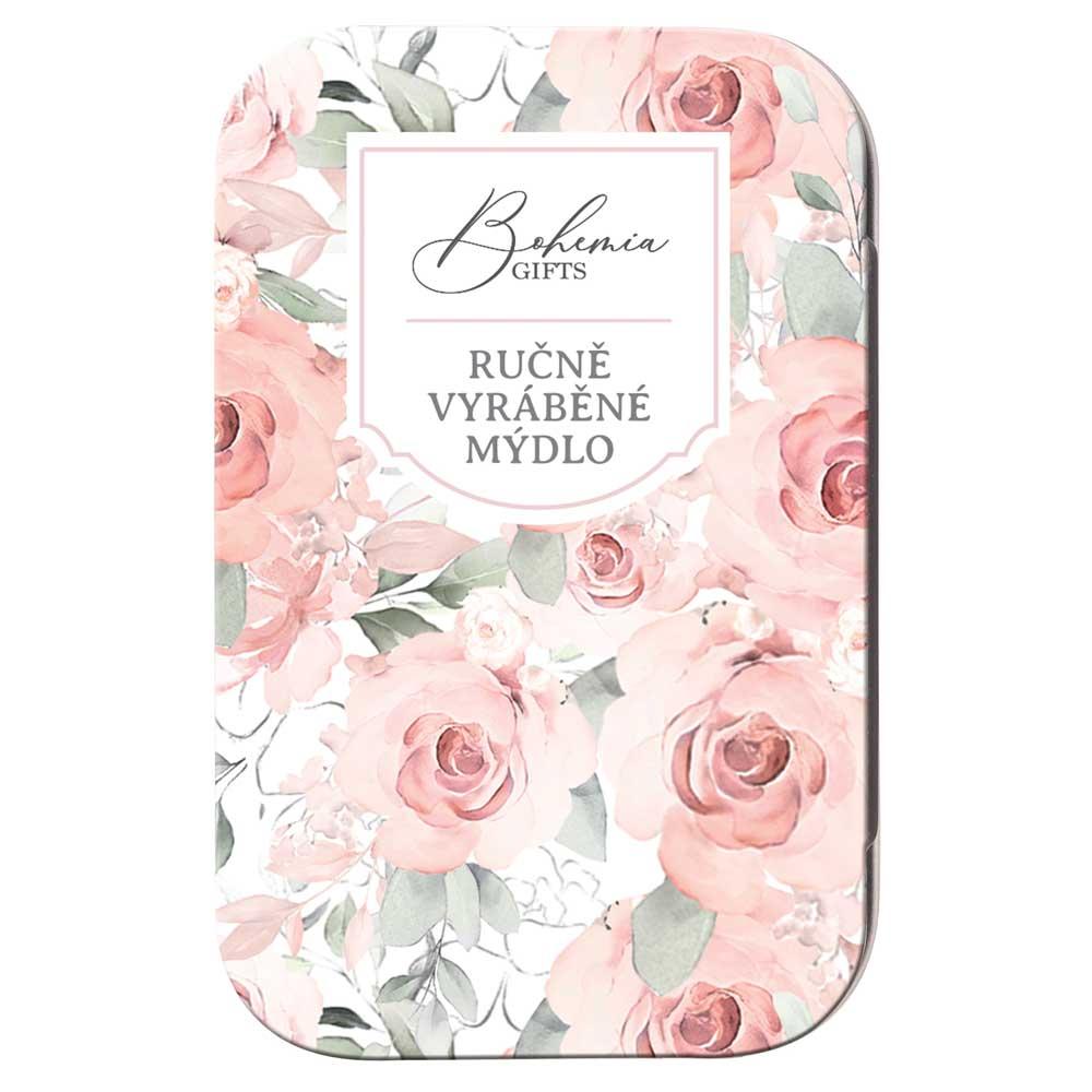 Toaletní mýdlo 80 g v plechové krabičce - růže