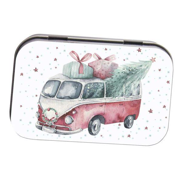 Toaletní mýdlo 80 g v plechové krabičce - Vánoce - van