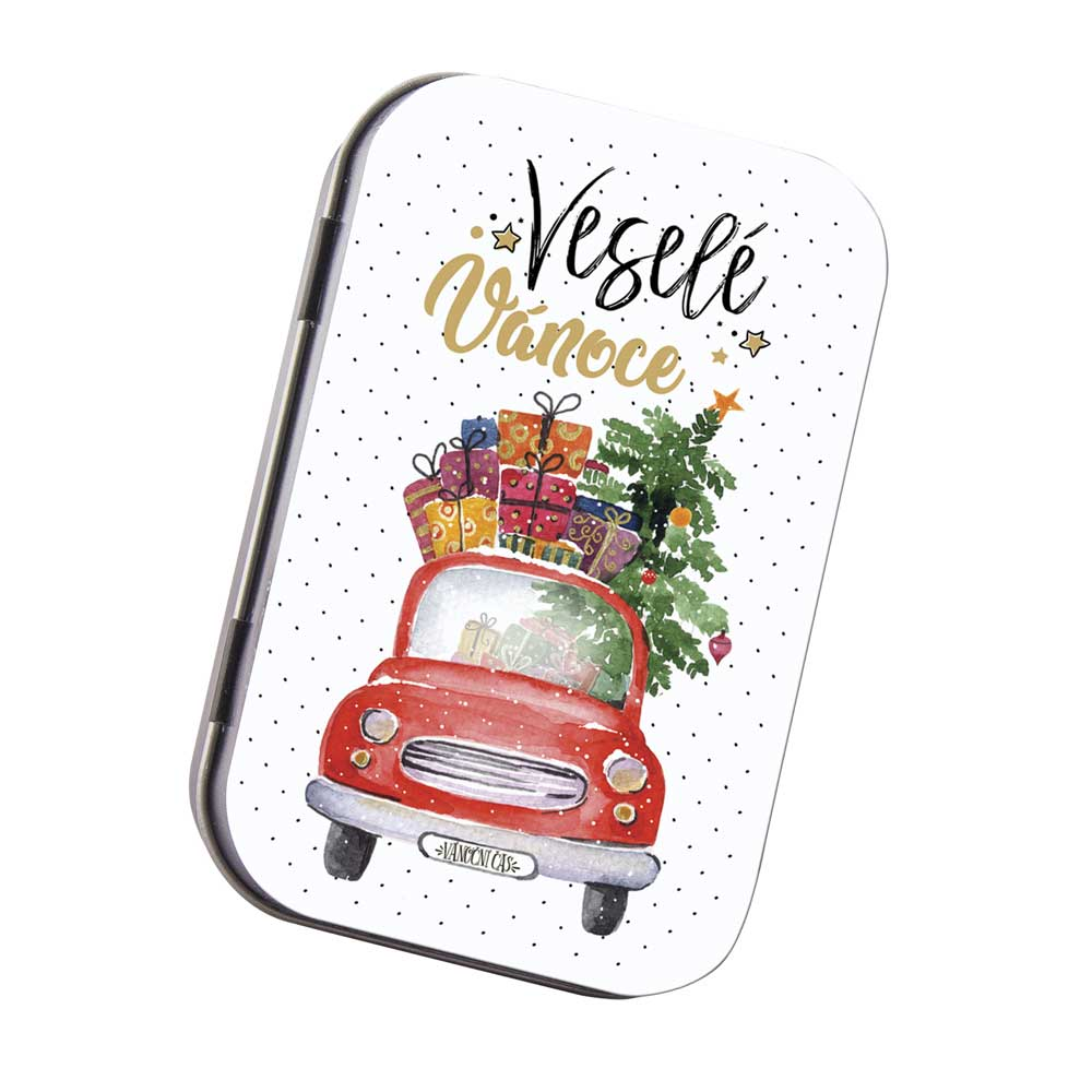 Toaletní mýdlo 80 g v krabičce - Veselé Vánoce - auto