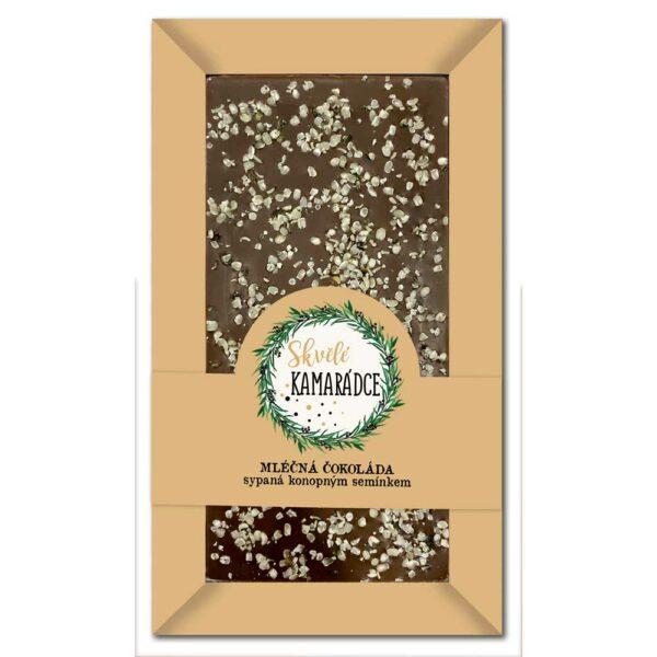 Sypaná mléčná čokoláda 80 g s konopným semínkem - kamarádce