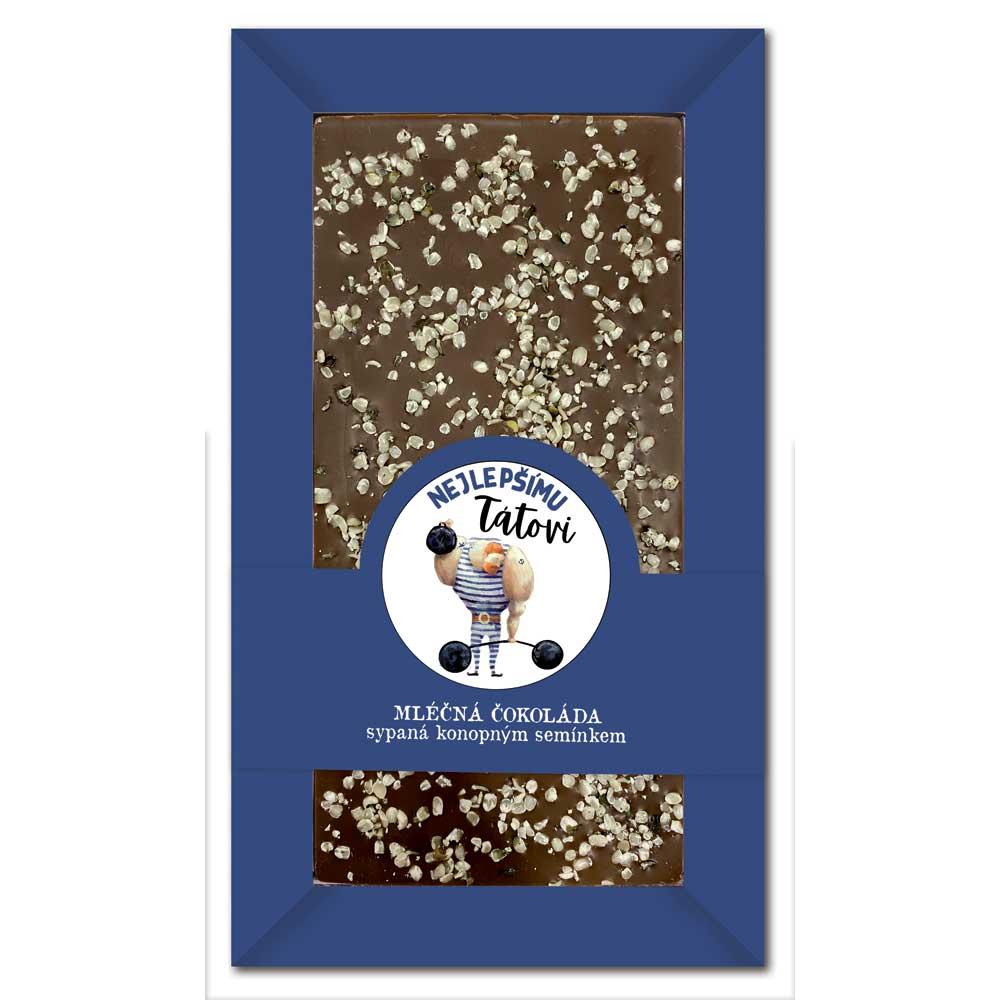 Sypaná mléčná čokoláda 80 g s konopným semínkem - nejlepšímu tátovi