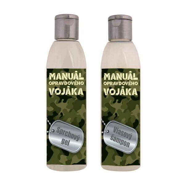 Kosmetická dárková sada pro vojáka - gel a šampon