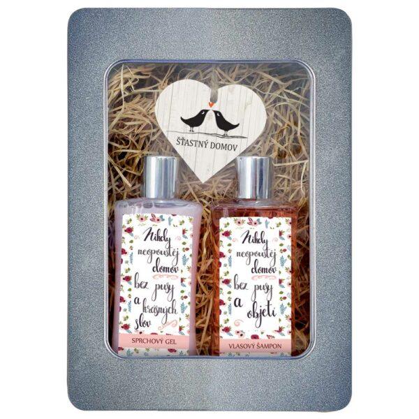 Dárkový plechový box pro ženu - šťastný domov