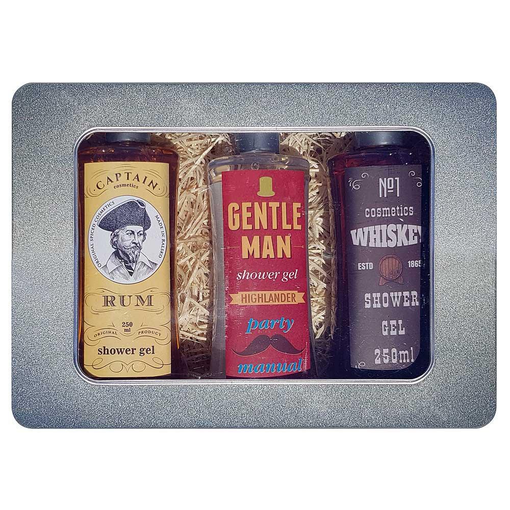 Dárkový box pro muže - 3x sprchový gel 250 ml