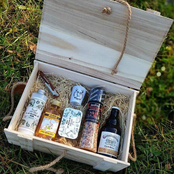 Dárkový dřevěný box pro myslivce