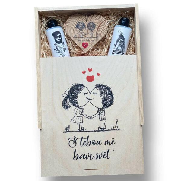 Dárkový box pro zamilované - s tebou mě baví svět