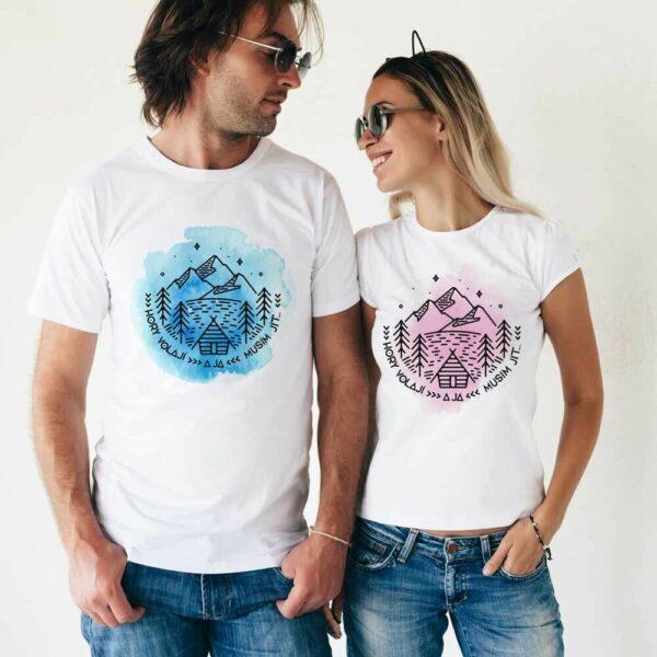 Originální trička s potiskem Hory volají