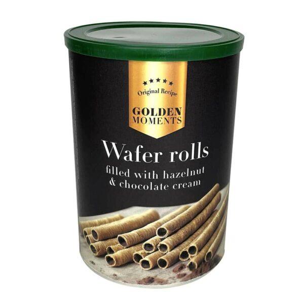 Oplatkové trubičky - lískový ořech a čokoládový krém