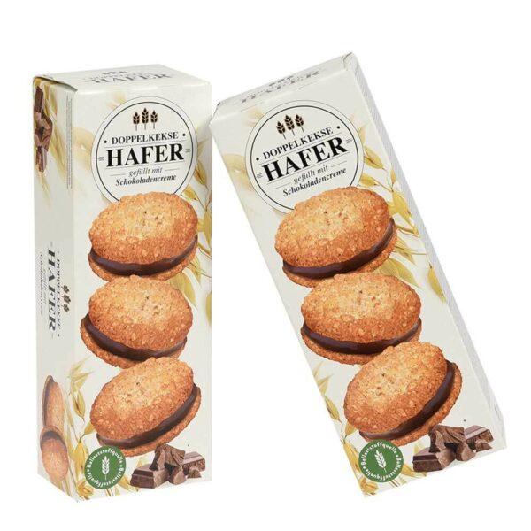 Ovesné sušenky s krémem z tmavé čokolády
