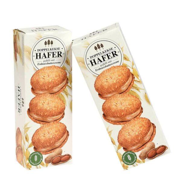 Sendvičové sušenky s krémem z arašídového másla